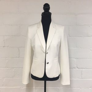 Calvin Klein 2-Button Blazer in Ivory